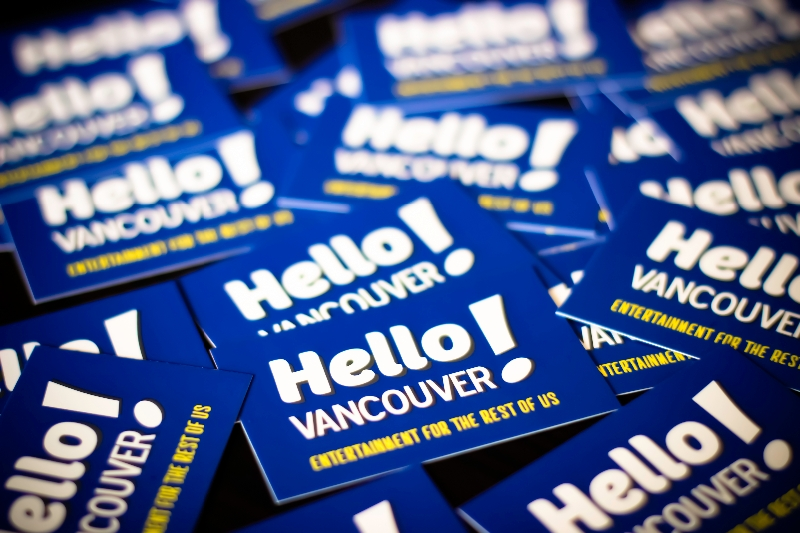 Hello Vancouver! Business Cards